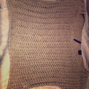 Open netting sweater